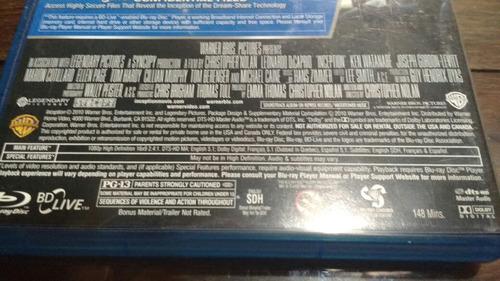 blu ray original, inception   el origen   edicion 3 discos