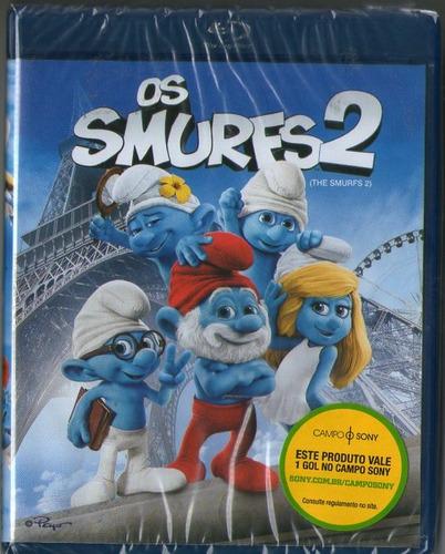 blu - ray os smurfs 2 - novo***