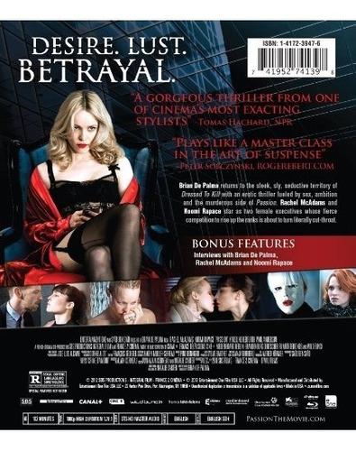 blu-ray : passion (ac-3, digital theater system, )