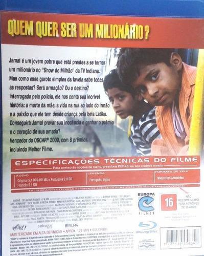 blu-ray quem quer ser um milionário