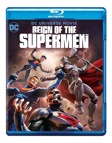 blu-ray : reign of the supermen (with dvd, blue, 2 pack,...
