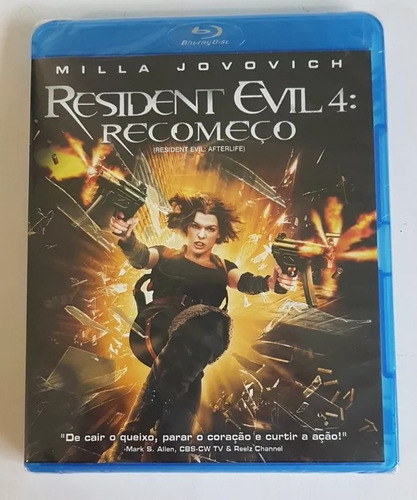 blu-ray - resident evil 4 - recomeço - original