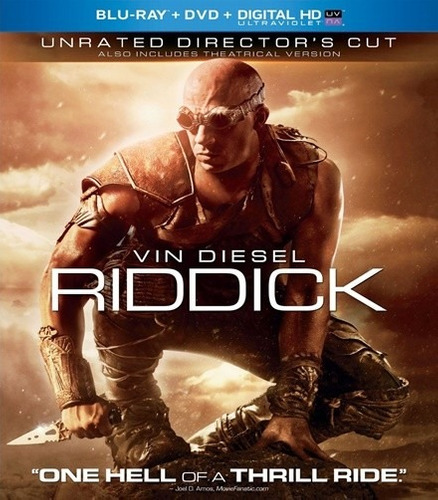 blu ray - riddick (unrated director's cut)