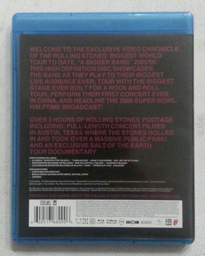 blu ray rolling stones the biggest bang