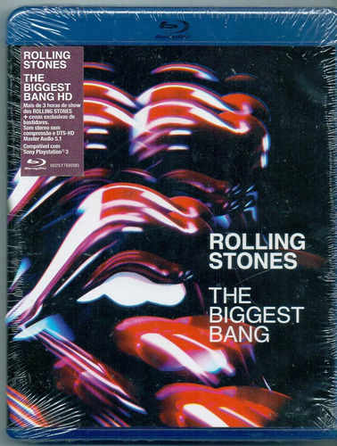blu ray rolling stones - the biggest bang - novo***