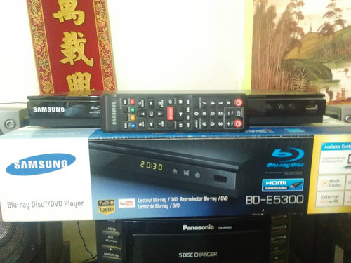 blu-ray samsung / dvd player modelo bd-e5300
