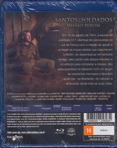 blu-ray santos e soldados missão berlim original c/ dublagem