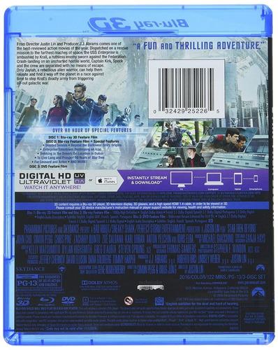 blu-ray star trek beyond / sin limites / 3d + 2d + dvd
