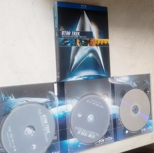 blu-ray star trek - jornada nas estrelas- trilogia - digipak