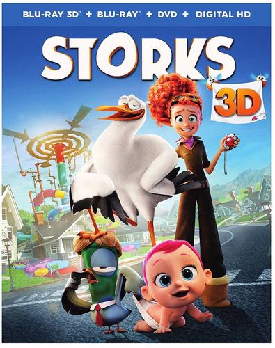 blu-ray storks / cigueñas 3d + 2d + dvd