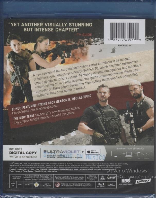 Blu-ray Strike Back Complete Season 5 Lacrado (importado)