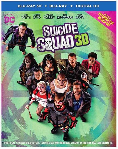 blu-ray suicide squad / escuadron suicida 3d + 2d extendida