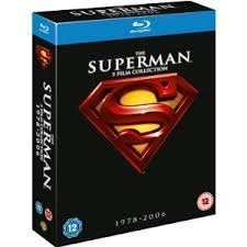 blu-ray superman collection - 5 filmes - dublado - 5 discos