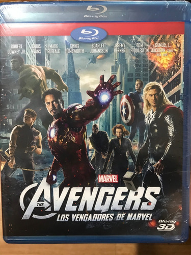 blu-ray the avengers / los vengadores de marvel 3d