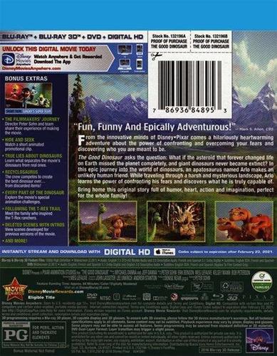 blu-ray the good dinosaur / un buen dinosaurio 3d + 2d + dvd