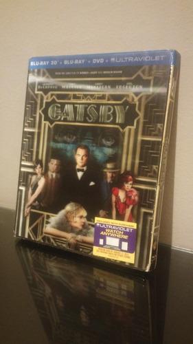blu ray the great gatsby 3d /gran (cover lenticular) sellado