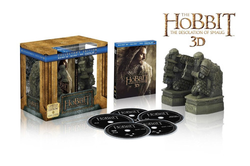 blu-ray the hobbit: the desolation of smaug ed. de colección