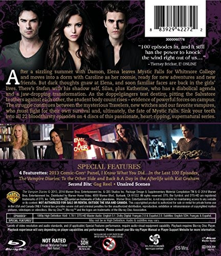 blu-ray : the vampire diaries: the complete fifth season...