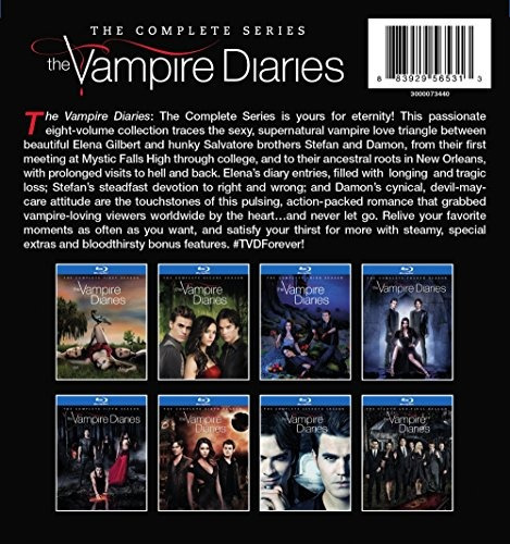 blu-ray : the vampire diaries: the complete series (boxed...