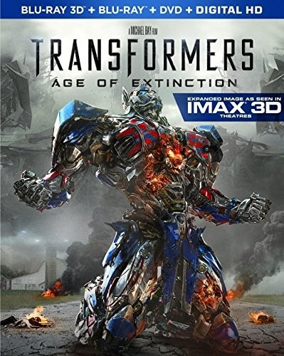 blu-ray transformers 4 age of extinction 3d + 2d + dvd imax