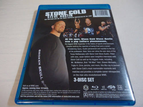 blu-ray  w w e : stone cold steve austin - lucha mundial