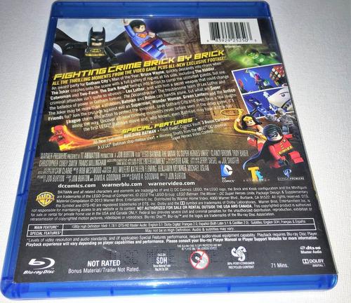 blu-ray warner: batman lego: la unión de los superhéroes