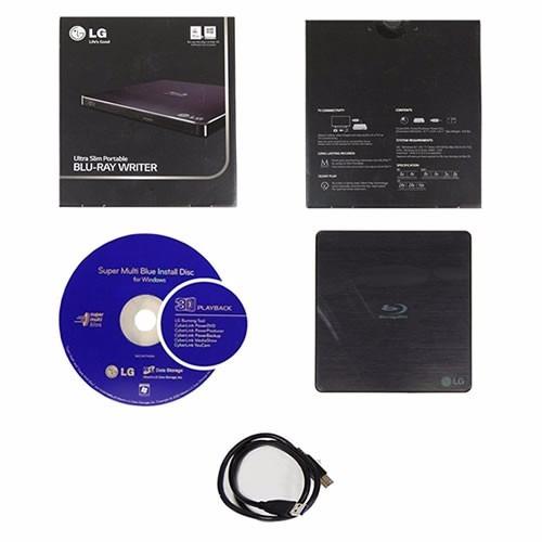 blu-ray writer ultra slim externo dvd cd 3d usb lg bp50nb40