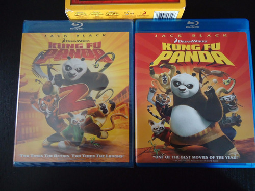 blu-rays dreamworks:  kit kung fu panda collection 1 & 2