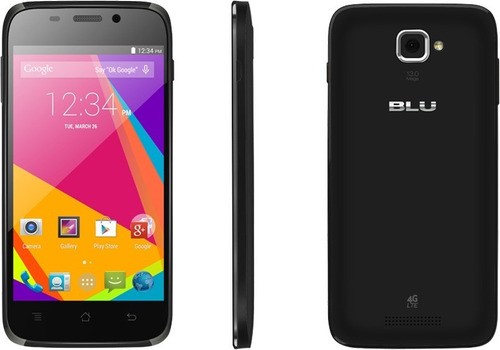 blu studio 5.0 hd 4g lte 13mp/5mp quadcore 1.2ghz 1gb ram