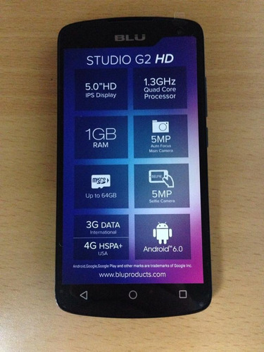 blu studio g2 hd 8gb 1gb 5mp dual sim negro kingpc105 tienda