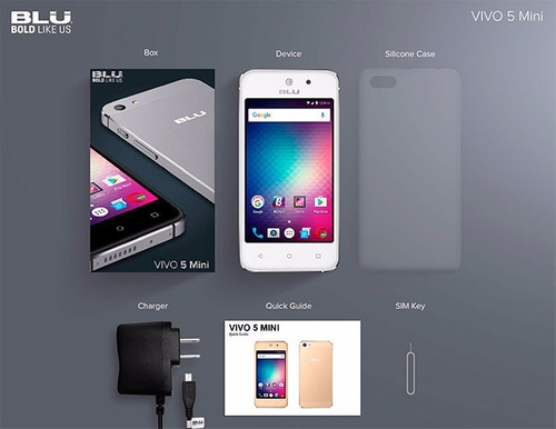 blu vivo 5 mini android 6 camara 5mp mem. 8gb pantalla curva