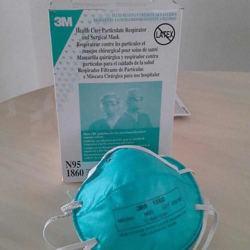 blue 3m 1860 n95 respirator mask