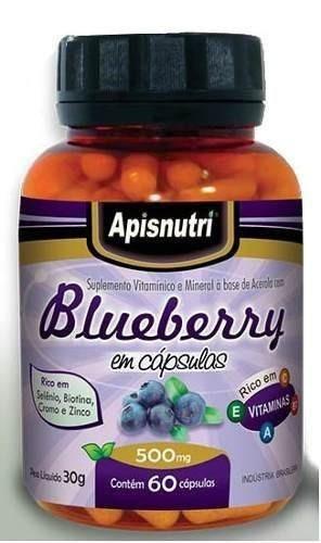 blue berry 500 mg 120 capsulas apisnutri o melhor!!!