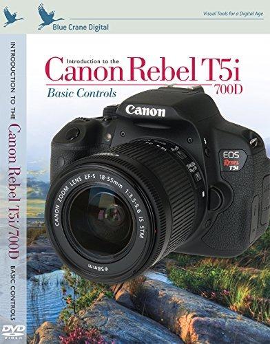 blue crane canon rebel t5i / 700d inbrief tarjeta de refere