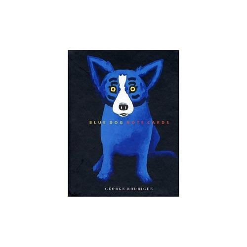 blue dog - tarjetas de nota