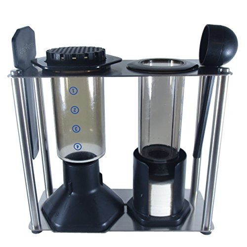 blue horse caddy para aeropress coffee maker