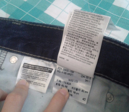 blue jean oscuro de caballero marca levi's original talla 32