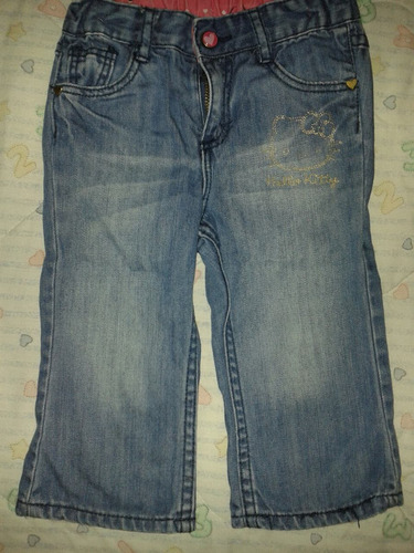 blue jean talla 9 - 12 meses hello kitty