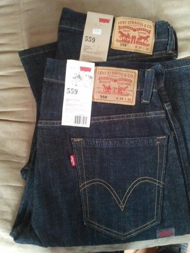 blue jeans levi's 559 100%usa importado talla 34x32 cod 511