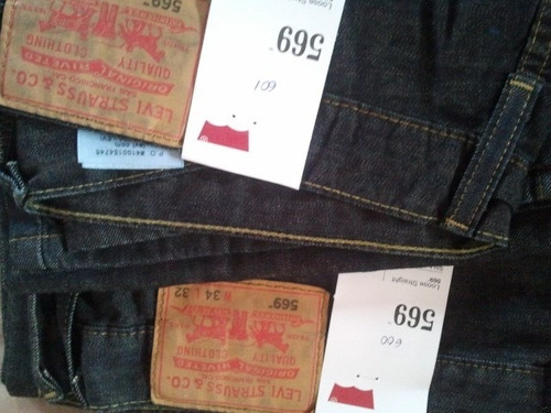 blue jeans levi's 569 100%usa importado talla 34x32 cod 600