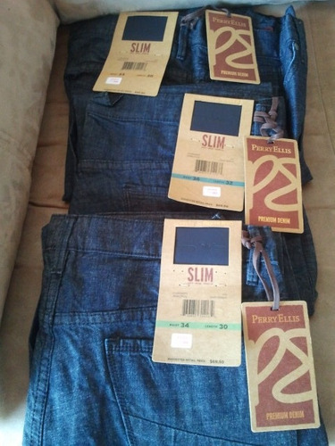 blue jeans  perry ellis 100% originales traidos talla 32x30
