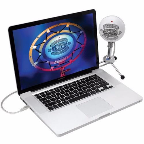 blue micrófono condensador con
