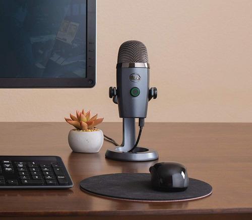 blue yeti nano premium usb microfono stream y grabar onyx