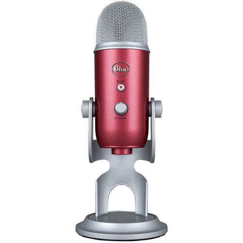 blue yeti-usb microfonos profesionale - steel red