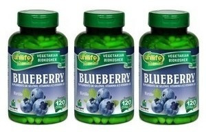blueberry 180 cápsulas. polifenois antioxidante