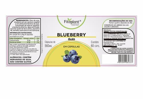 blueberry 560mg 60 cáps. kit c/ 2 potes premiun original