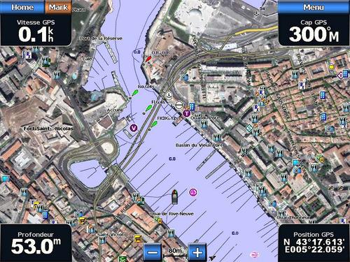 bluechart g2 vision - cartas de navegación garmin marina