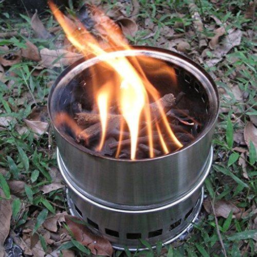 bluecookies portátil de acero inoxidable de madera quemad...