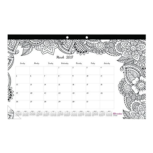 Blueline 2017 Mensual Para Colorear Desk Pad Calendar, Bota ...