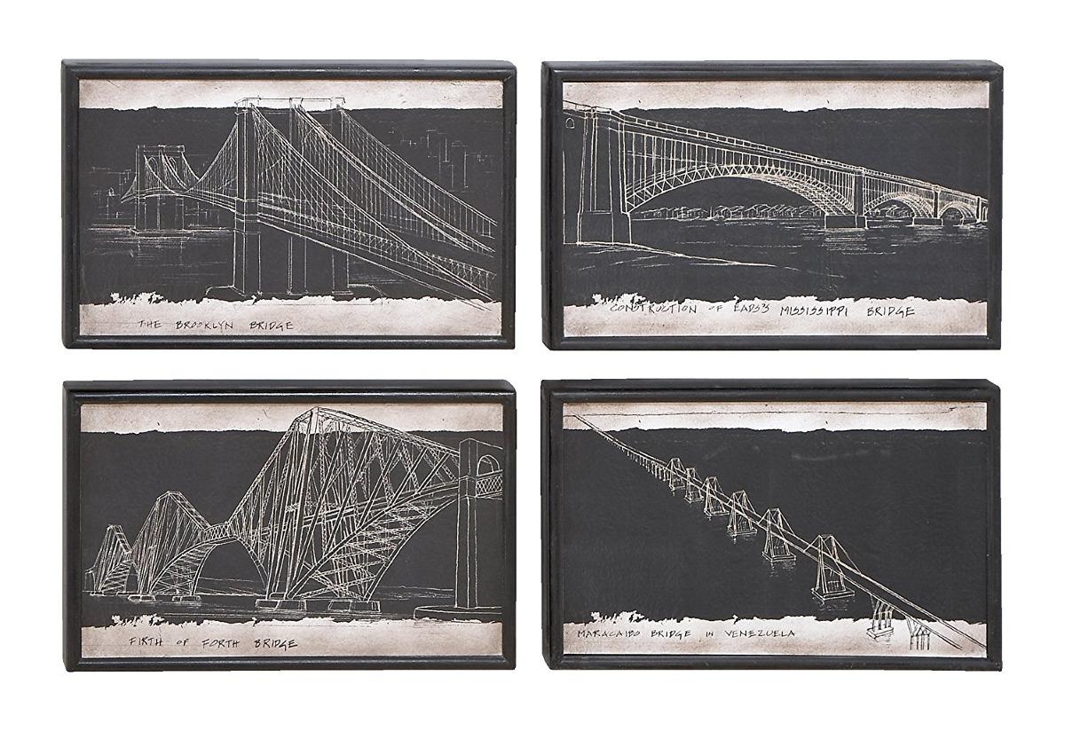 Blueprint style art with iconic world bridges 132321 en blueprint style art with iconic world bridges cargando zoom malvernweather Gallery